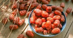 fruit de jujube seche arbre le jujubier asiatique